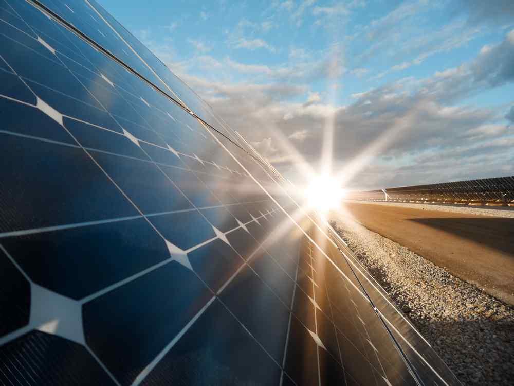 Solar power station -  photovoltaics